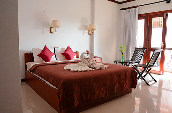 The Deluxe Rooms of Mom's GuestHouse in Siem Reap Cambodia